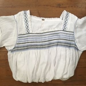 embroidered free people top!!